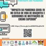 Ufal participa de pesquisa sobre impactos da pandemia no estilo de vida