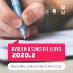 Comissão convida servidores e alunos para avaliarem semestre letivo 2020.2