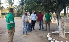 Visita dos coordenadores da Expedição Científica à Pedreira Triunfo