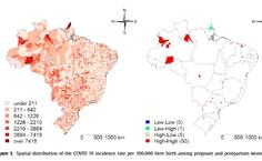 Mapa de cidades com mortes maternas por covid-19